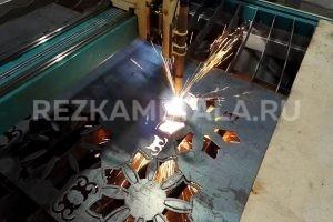 Резка узора на металле на забор в Казани